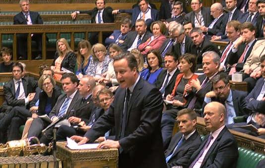Le premier ministre, David Cameron, devant les députés, le 21 mars.