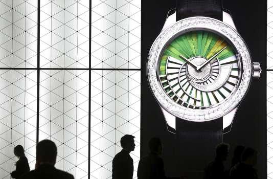 Le stand de Dior au Salon mondial de Bâle en Suisse.