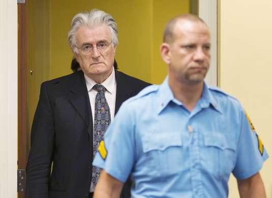 Radovan Karadzic, à la Haye, le 24 mars 2016.