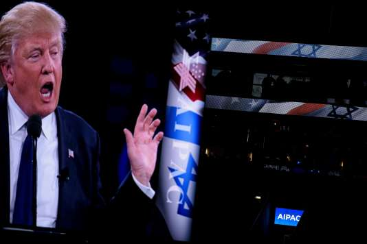 Si le passage de M. Trump devant l'Aipac, le 21 mars, avait été précédé de menaces de manifestations hostiles, son discours a été plutôt bien accueilli par la salle.