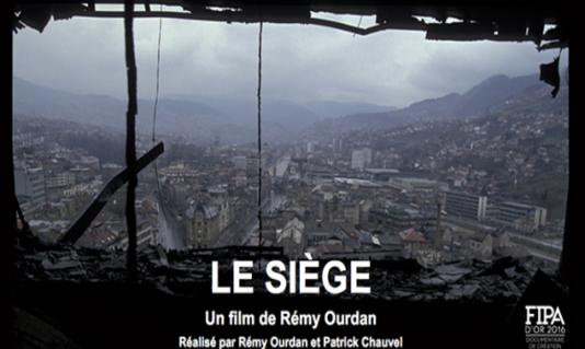 Affiche du «Siège» de Rémy Ourdan, journaliste au «Monde» et Patrick Chauvel.
