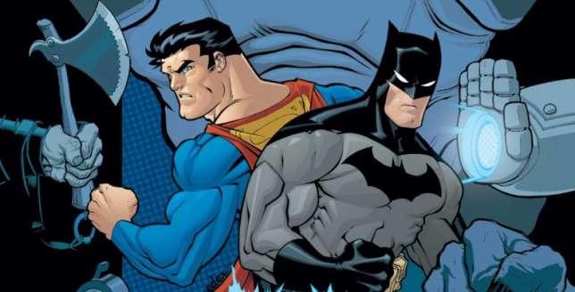 Superman et Batman dessinés par Ed Mc Guinness.