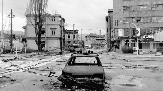 Une vue de Sarajevo assiégée.