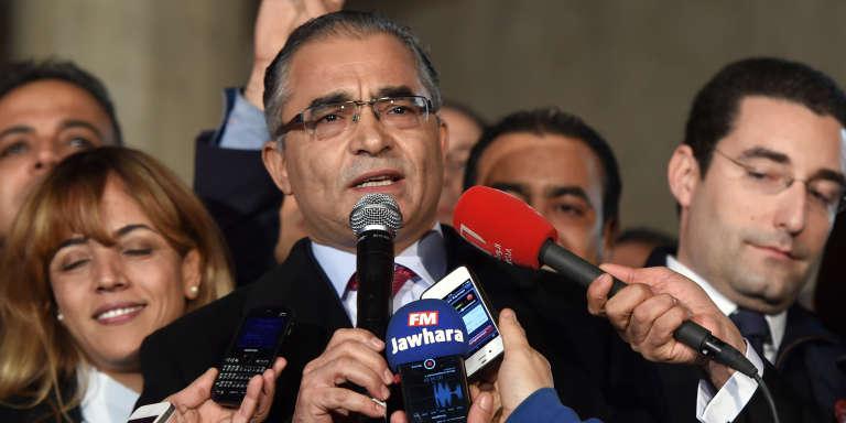 Mohsen Marzouk en décembre 2014 à Tunis.