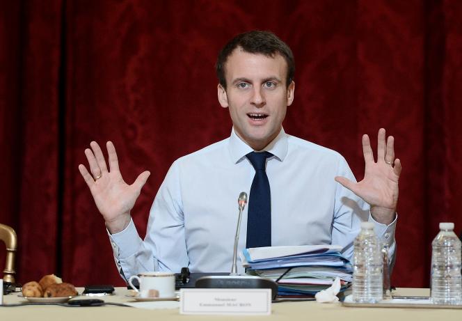 Le ministre de l'économie, Emmanuel Macron.