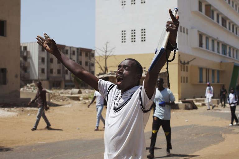 Lors d'une manifestation d'étudiants de l'université Cheick Anta Diop de Dakar en 2013.