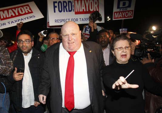 Rob Ford, l'ex-maire de Toronto, le 27 octobre 2014.
