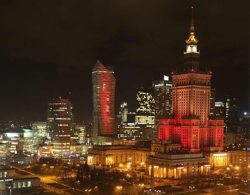 Le palais de la culture et de la science à Varsovie, en Pologne.