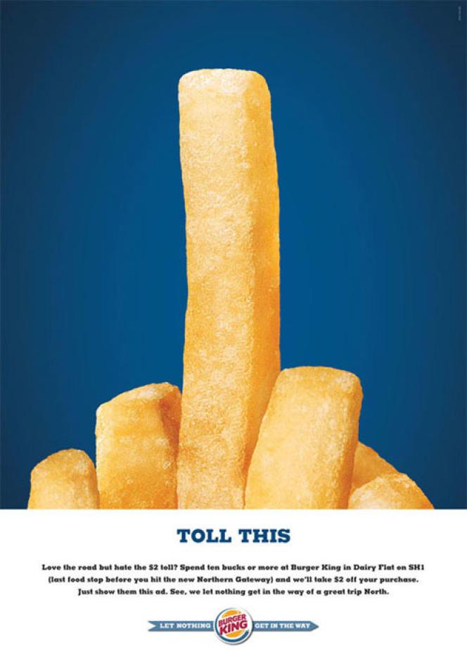 Campagne de publicité pour la marque Burger King