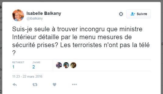 Le tweet d'Isabelle Balkany