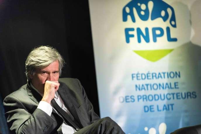 Stéphane Le Foll, lors de l'assemblée générale de la FNPL, à Saint-Didier-sur-Beaujeu (Rhône), le 17mars.