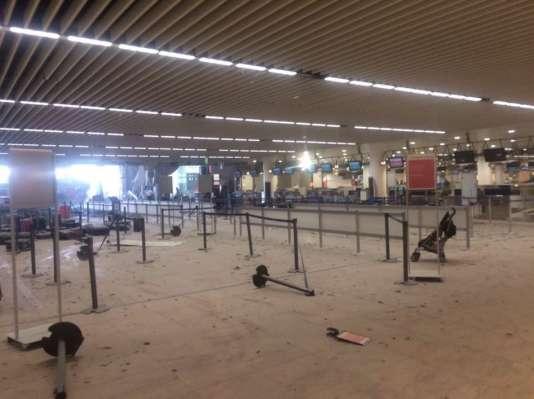 A l'aéroport de Zaventem, le 22 mars.