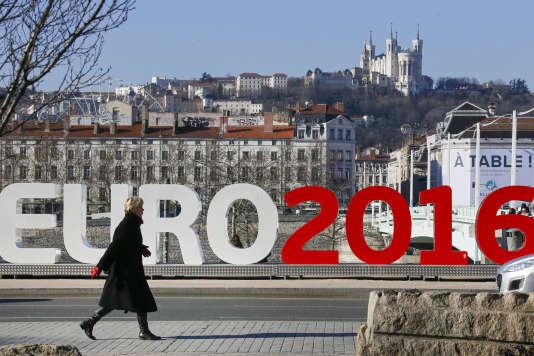 A Lyon, l'une des villes hôtes de l'Euro 2016, le 25 janvier 2016.