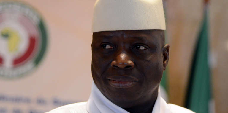Le président gambien, Yahya Jammeh, le 28 mars 2014.