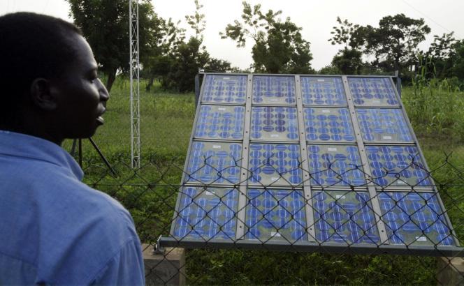 Panneaux solaires à Ouagadougou.