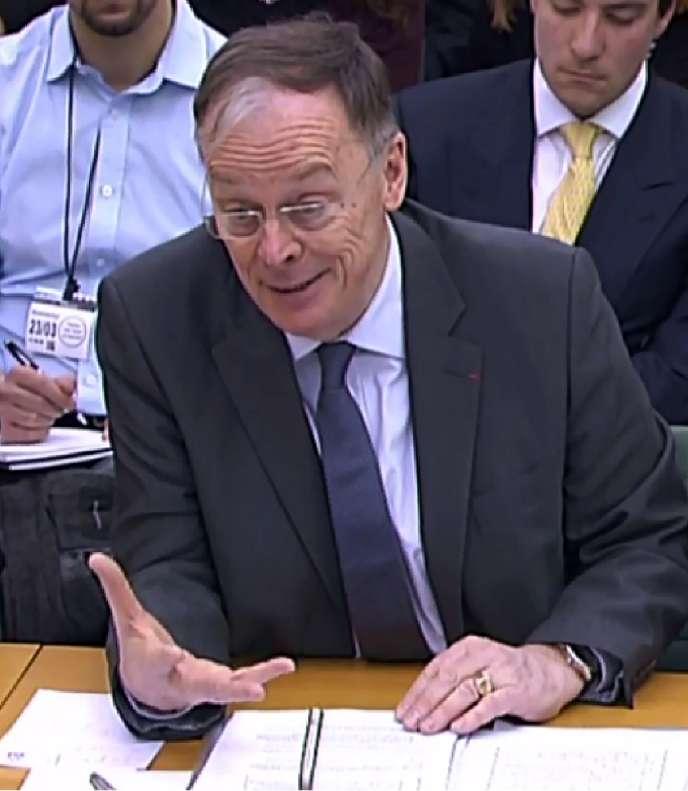 Vincent de Rivaz, le PDG d'EDF Energy, lors de son audition, mercredi 23mars, par la Commission de l'énergie et du changement climatique du Parlement de Westminster.