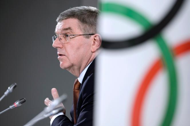 Le président du CIO Thomas Bach, à Lausanne le 2 mars.