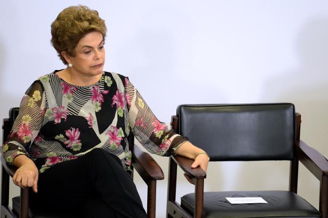 La présidente du Brésil Dilma Rousseff, à Brasilia le 23 mars.