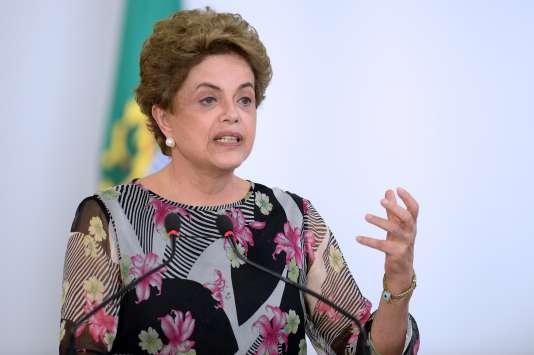 La présidente brésilienne, Dilma Rousseff, le 23 mars.