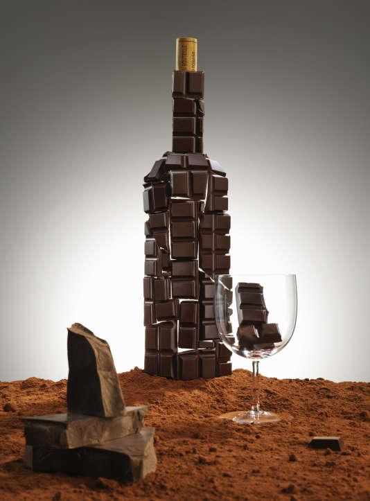 Composition en chocolat.