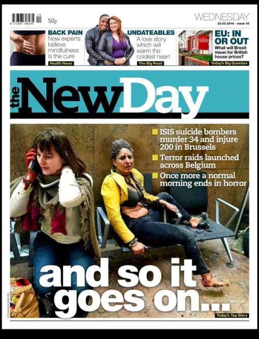 """""""Et ça continue"""", titre le tout nouveau quotidien anglais The New Day."""
