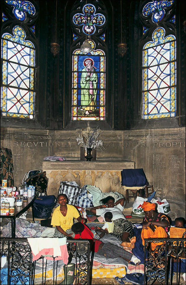 Eglise Saint-Bernard, en août 1996.