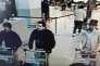 Image de vidéo-surveillance montrant les terroristes auteurs de l'attentat à l'aéroport de Zaventem le 22 mars 2016.