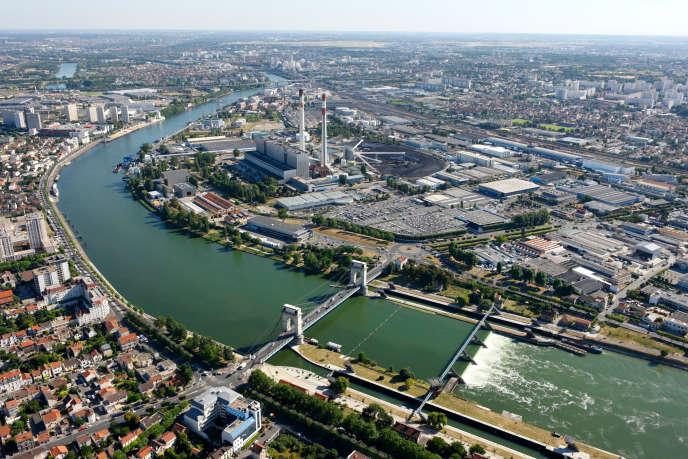 Une vue aérienne de Vitry-sur-Seine
