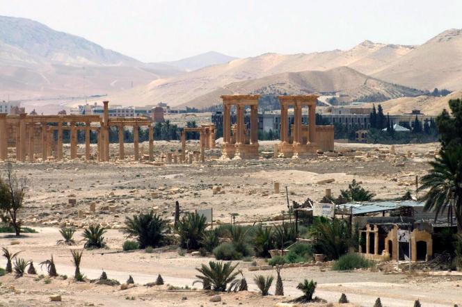 Les troupes syriennes sont positionnées au sud-ouest de la cité antique, conquise par l'EI en mai 2015.