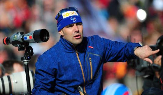 L'ancien entraîneur du tir de l'équipe de France est désormais celui de la Norvège. Ici à Ruhpolding le 9 mars 2012. AFP / JOHANNES EISELE