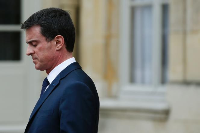 Le premier ministre, Manuel Valls, à Matignon, le 24 mars 2016.