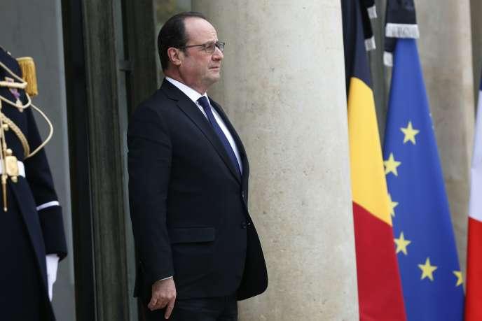 François Hollande à l'Elysée, le 24 mars.