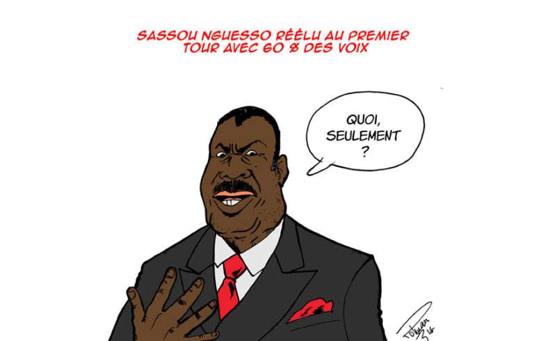 La réélection de Denis Sassou-Nguesso vue par notre dessinateur, Roland Polman