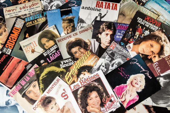 Des disques français des années 1970 et 1980.