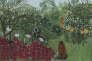 """Henri Rousseau, dit Le Douanier Rousseau (1844-1910), """"Forêt tropicale avec singes"""", 1910, huile sur toile."""