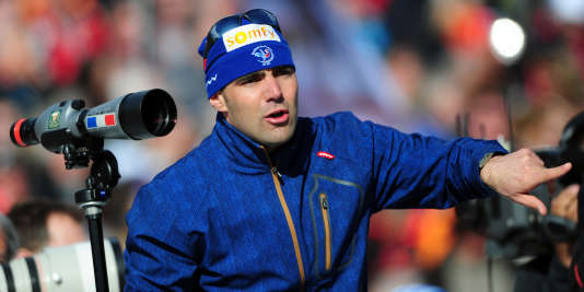 Siegfried Mazet, ici lors des championnats du monde 2012, accompagnait les biathlètes français depuis huit ans.