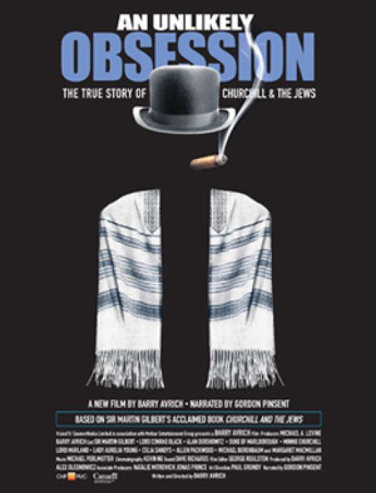 Affiche de «Churchill et le peuple juif: une discrète amitié» («An Unlikely Obsession»), de Barry Avrich.