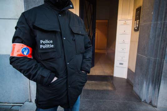 Un policier belge, le 25mars.