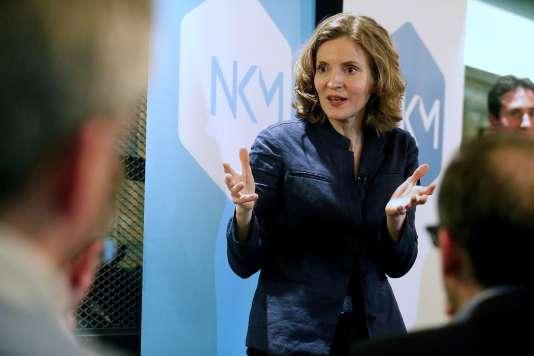"""La députée (Les Républicains) Nathalie Kosciusko-Morizet présentait son livre """"Le monde a changé"""" à Reims le 23 mars, en marge de sa campagne pour la primaire de droite."""