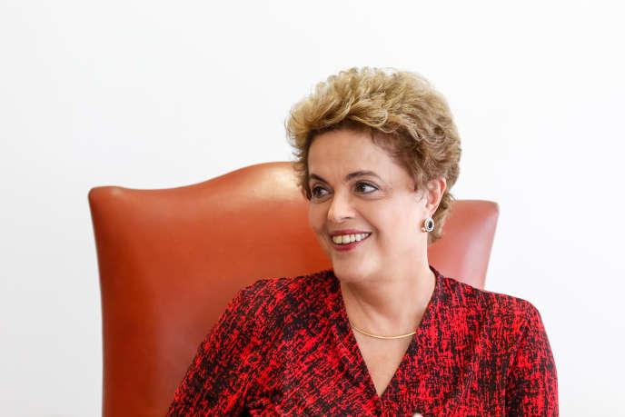 Dilma Rousseff à Brasília le 24 mars 2016.