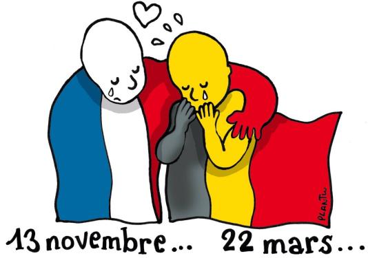 """Le Regard de Plantu"", ""Le Monde"" du 23 mars."