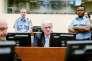 Radovan Karadzic, au Tribunal pénal international de La Haye, jeudi 24 mars.