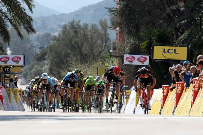 La course cycliste du Critérium international en Corse, samedi 26 mars.