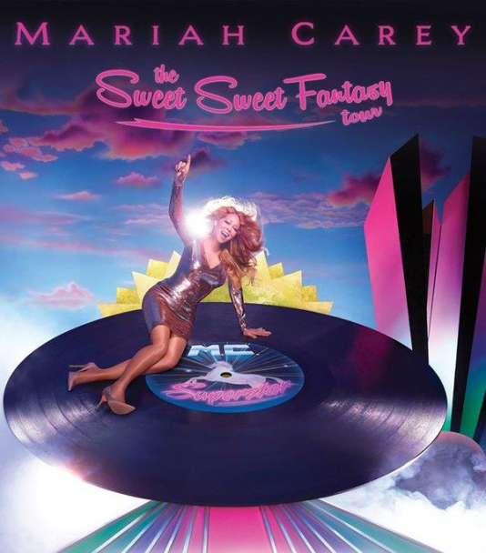 L'une des affiches du Sweet Sweet Fantasy Tour de Mariah Carey.