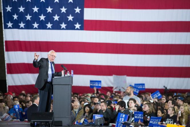 Bernie Sanders le 26 mars lors d'un meeting à Madison, dans le Wisconsin.