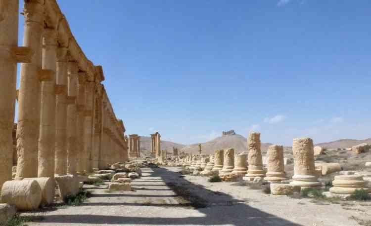 L'une des célèbres colonnades de la cité antique.