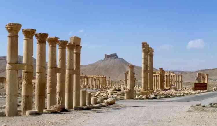 L'une des colonnades de la cité antique.