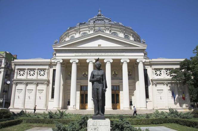 L'Athénée roumain, une salle de concert située dans le centre-ville de Bucarest.