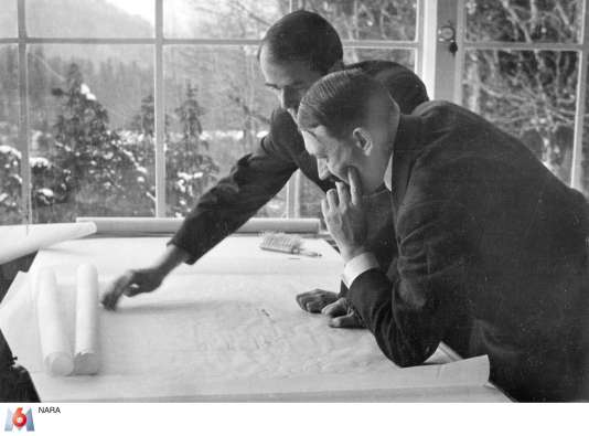 Adolf Hitler et l'architecte Albert Speer.