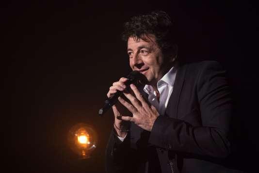 Patrick Bruel chante Barbara au Théâtre Mogador à Paris, le 28 mars.